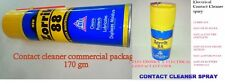 ELECTRICAL &  ELECTRONIC CONTACT CLEANER LUBRICATE  SPRAY 170 gm COMMERCIAL PACk