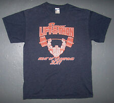 BRONCO'S LIFT A TON 2011 / WEIGHTLIFTING / PUMPING IRON BLUE GRAY T-SHIRT SIZE M