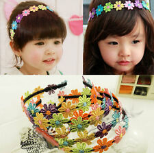 GIRLS BABIES NEWBORN KID ELASTIC FLOWER HEADBAND HAIRBAND HAIR ACCESSORIES