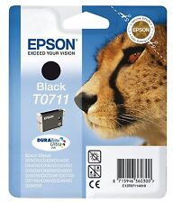 Epson T0711 Black Ink Cartridge for Stylus SX515w SX510w SX210 SX215 New Branded