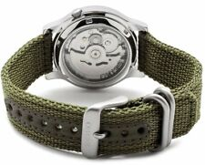 Seiko 5 Men's Military Automatic Watch Green Dial and Green Strap SNK805K2