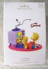 Simpsons Bart Lisa TV Show Hallmark Light Sound Christmas Ornament Time 2008 NIB