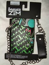 Nwt Invader Zim Doom Dog Suit Robot Dog Gir Nickelodeon Tri Fold Wallet & Chain