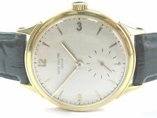 Patek Philippe 18Kt Yellow Gold Black Leather Strap Watch