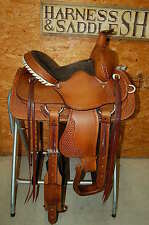 "13.5"" G.W. CRATE ROPING RANCH SADDLE LIFETIME WARRANTY MADE IN ALABAMA FREE SHIP"