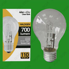 10x 110V 46W=60W Halogen GLS E27 Clear Construction Site Festoon Light Bulb Lamp