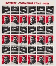 US Event Space Interpex Stamp Show 1969 Full Sheet of 36 Stamps Fresh MNH!  |