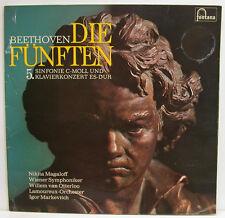 """BEETHOVEN DIE FÜNFTEN 5. SINFONIE KLAVIERKONZERT MAGALOFF OTTERLOO 12"""" LP (e619)"""