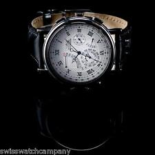 Invicta Minute Repeater Perpetual Calendar Triple Black Alligator Strap Watch
