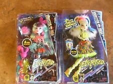 Monster High ELECTRIFIED Twyla and Frankie Stein Dolls New and Unopened