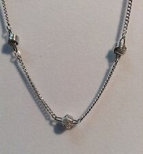 Signed Avon silver tone necklace.