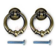 2pcs Antique Brass Vintage Cabinet Drawer Dresser Pull Handle Knobs