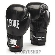 GUANTONI LEONE CARBON 10 OZ NERO GLOVES MUAY THAI BOXE KICK BOXING