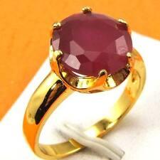 Size 8 Ring,REAL POSH 18K YELLOW GOLD GP RED CORUNDUM GEMSTONE SOLID,Multi-size