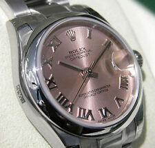 *NEW* ROLEX MIDSIZE STAINLESS STEEL PINK ROMAN OYSTER DATEJUST #178240