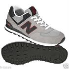 NEW BALANCE LIFESTYLE- RETRO ML574GNR MEN SUEDE M GREY- NAVY- RED - WHITE SIZE