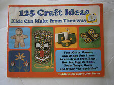 1981 125 Craft Ideas Kids Can Make From Throwaways Pattern Book Easy Egg Carton