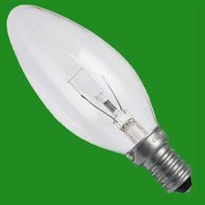 6x 40W CLEAR CANDLE FILAMENT LIGHT BULBS SCREW SES E14