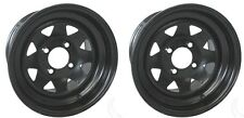 (2) 8 Spoke 12x7.5 with 3+4 Offset Steel Wheel Golf Cart ATV UTV