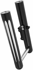 Arlen Ness - 06-575 - Hot Legs Single Disc Fork Leg Set, Deep Cut - Black