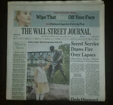 The Wall Street Journal October 1, 2014. Ebola in Texas 1st US case. Ebay/paypal
