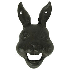 Cast Iron Wall Mount Rabbit Head Beer Soda Bottle Opener Mounted Pub/Bar Decor