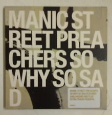 Manic Street Preachers So Why So Sad Cd-Single UK 2001 Doble funda cartón