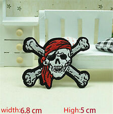 New Skull Embroidered Iron/Sew on Patches/Badge Applique Motif DIY Badges
