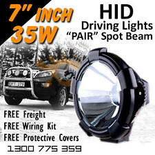 HID Xenon Driving Lights - Pair 7 Inch 35w Spot Beam 4x4 4wd Off Road 12v 24v