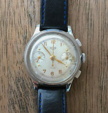 Vintage watch HEUER 2403 swiss made stainless steel chronograph 1940 Valjoux 22