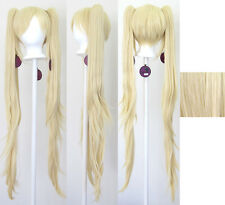40'' Wavy Pig Tails + Base Flaxen Blonde Cosplay Wig NEW
