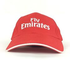Fly Emirates Airlines Red Baseball Cap Hat Adjustable Adult Size Polyester
