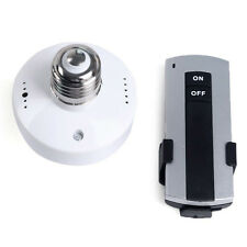 12V Wireless Remote Control E27 Lamp Holder Light Bulb Cap Socket Switch Screw