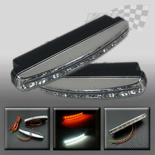 DAYTIME RUNNING LIGHTS DRL LED SMD WHITE + YELLOW INDICATOR LIGHT TOYOTA