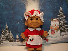 "CHRISTMAS GRANDMA / MRS CLAUS - 5"" Russ Troll Doll - NEW IN ORIGINAL WRAPPER"