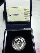 Malaysia Malaysia-China Diplomatic Relations Single Silver Proof Coin