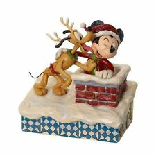 MICKEY PLUTO UP ON THE -  JIM SHORE DISNEY TRADITIONS - 4023543 - NEW & BOXED