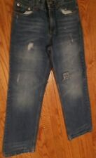 Girls Mossimo Distressed Relax 12 Blue Jeans Mossimo Denim Cool Frays 303