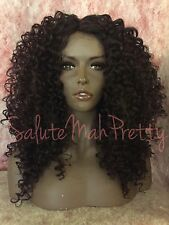 100% Human Hair Blend Dominican Curly Deep Realistic Part Lace Front Wig