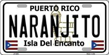 NARANJITO Puerto Rico Novelty State Background Metal License Plate