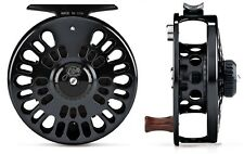 ABEL SUPER 4N FLY REEL - BLACK WITH ROSEWOOD HANDLE - NEW - LIQUIDATION