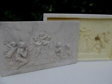 Large cherubs and angel wall plaque Silicone Rubber Mould