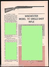 1963 Winchester 55 Single-Shot Rifle Exploded View Parts List Assembly Article