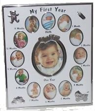 My First Year Multi Baby Girl / Boy Photo Picture Frame wall or freestanding pad