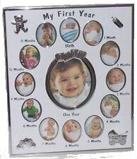 Mi primer año Multi Bebé Niña / Niño Foto Cuadro De Pared Con Pad
