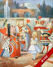OFF WITH HER HEAD! ALICE IN WONDERLAND QUEEN OF HEARTS CANVAS PAINTING ART PRINT