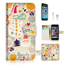 iPhone 7 (4.7') Flip Wallet Case Cover P0791 Merry Christmas