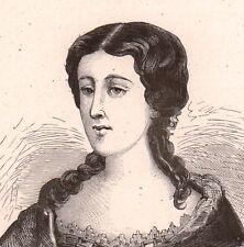 Portrait XIXe Adélaïde Piscatory de Vaufreland marquise de Pastoret Marseille