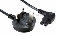 1.8m C5 Cloverleaf Laptop Power Cable Right Angled End to 3 pin UK Mains Plug