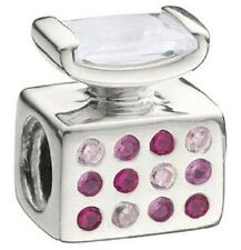 Authentic Chamilia Element Charm Sterling 925 Silber Perfume Bottle Pink CZ JC-8